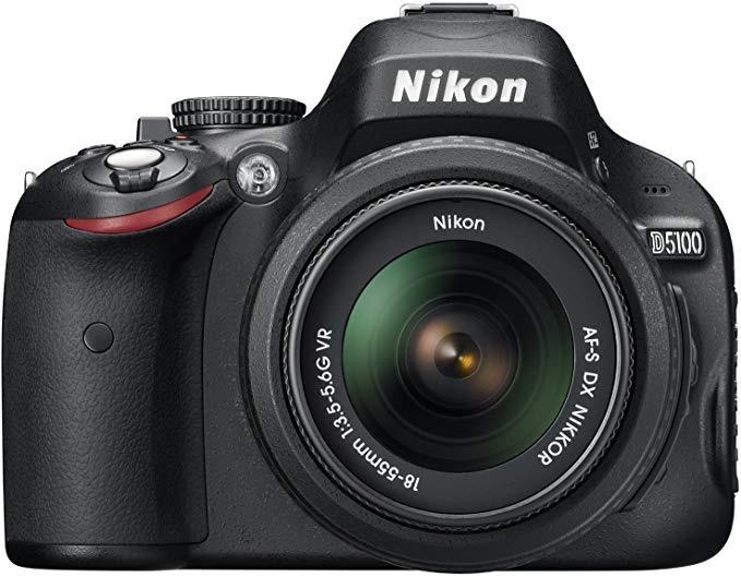 Nikon D5100 with  18-55