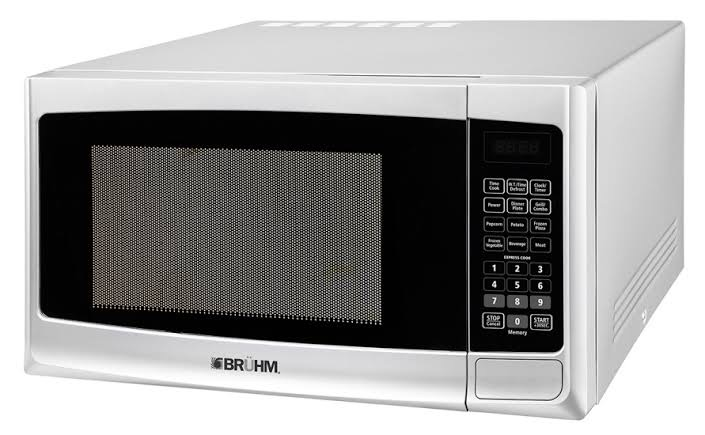 Bruhm Digital Control Microwave Oven With Grill Tanzania – 25 Litres – Silver (BMO-925EG )