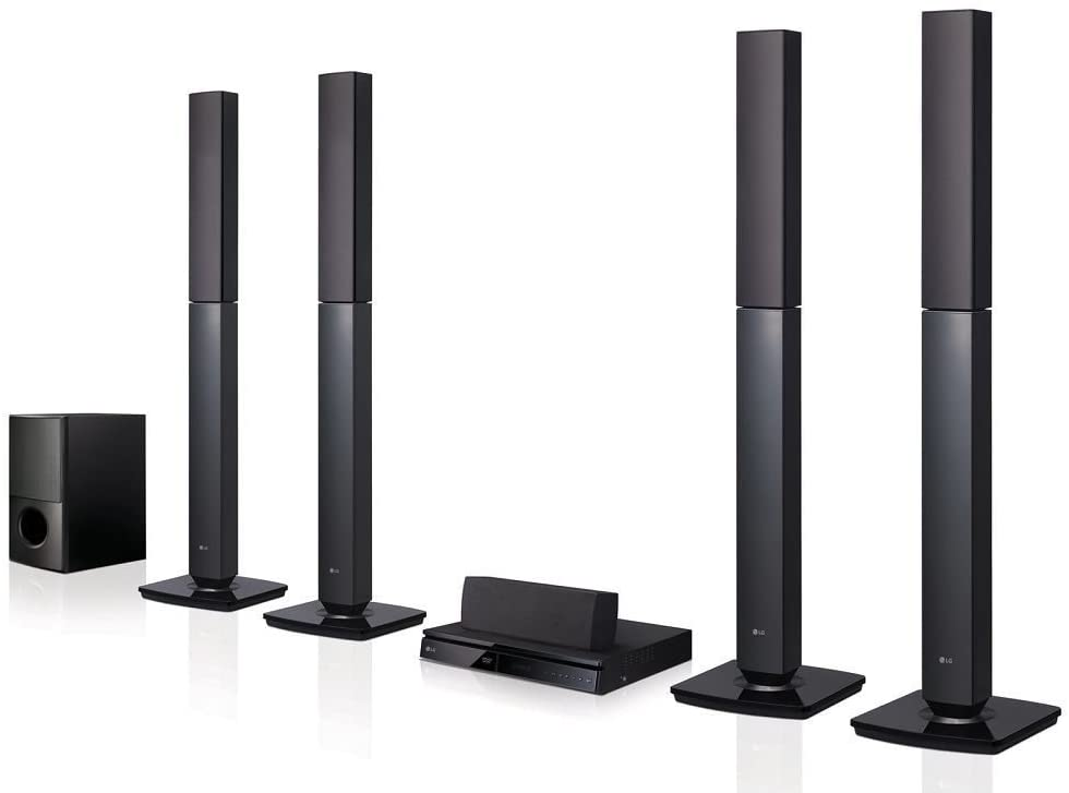 LG LHD657 Tanzania, Bluetooth Multi Region Free 5.1-Channel Home Theater Speaker System w/ Free HDMI Cable, 110-240 Volt