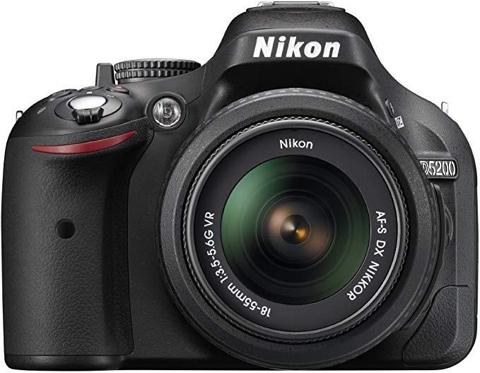 Nikon D5200 with 18-55