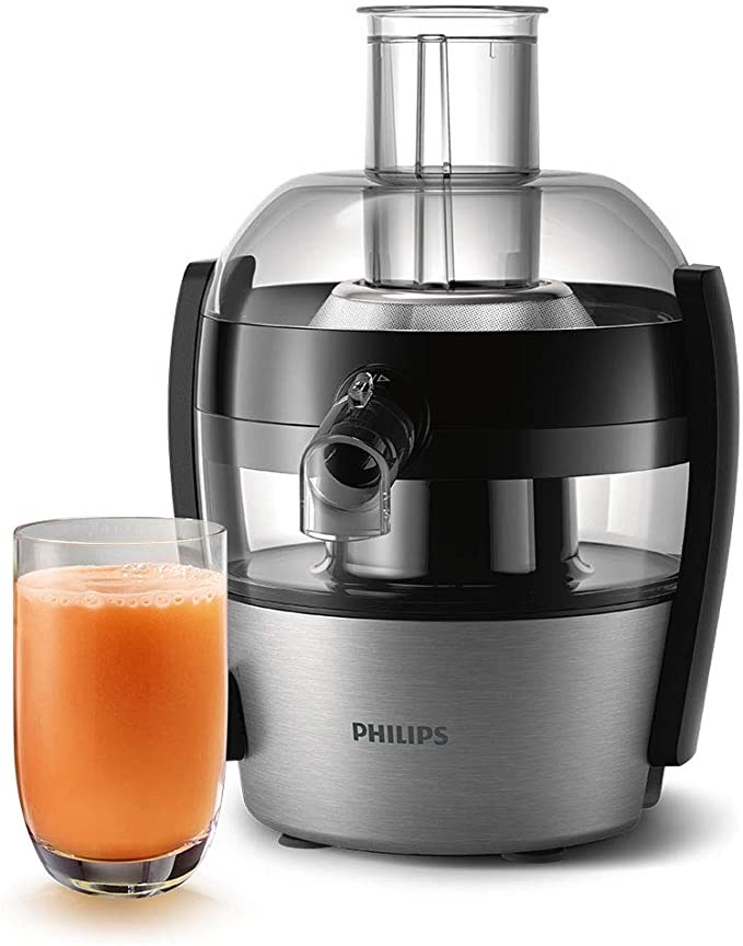 Philips Viva Collection Compact Juicer Tanzania, 1.5 Litre, 500 W - Brushed Aluminium - HR1836/01