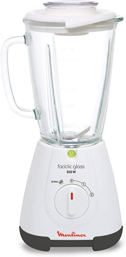 Moulinex Facilic Blender - 500W - 1.5 Lt Glass Jar Tanzania (LM310128)