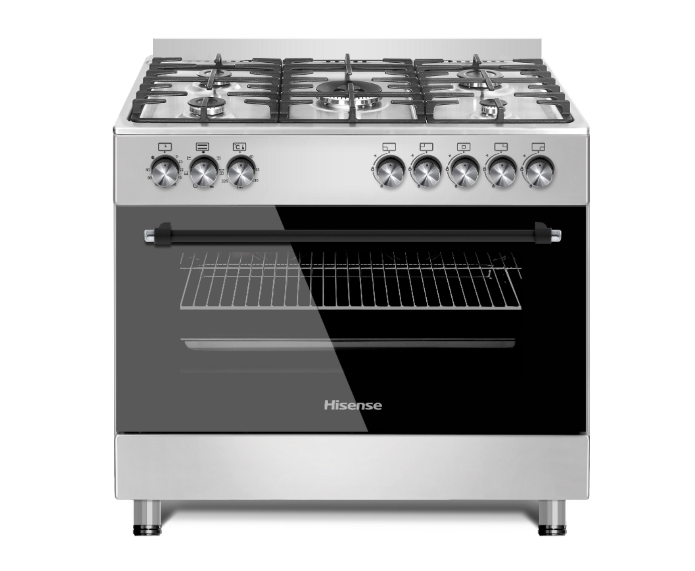 HISENSE 90CM GAS ELECTRIC STAINLESS STEEL STOVE TANZANIA (HFS905GES)