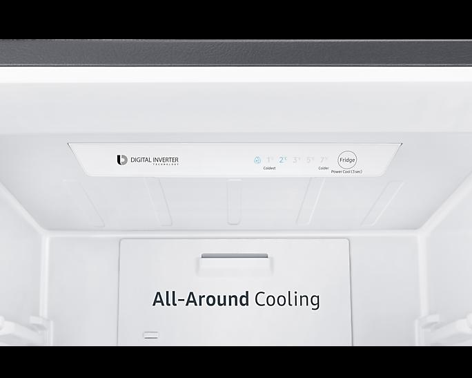 Samsung Bottom Freezer Fridge Tanzania, 284L Silver(RB30N4160)