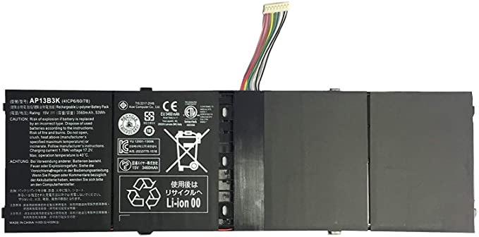 Laptop AP13B3K AP13B8K Battery for Acer Aspire M5-583 M5-583P R7-571 R7-571G R7-572 R7-572G R3-471TG V5-583P V5-552PG-X809 V5-552G V5-572P V5-573P V7-481 V5-472P V5-572G V7-482P Notebook 4ICP6/60/78 Tanzania