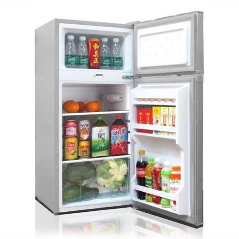 Kodtec Double Door Refrigerator 110L Tanzania (KT-110FR, Silver)