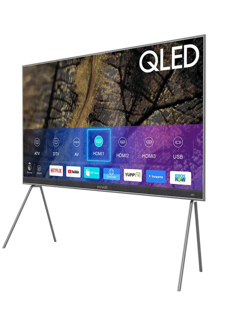 Evvoli 86-Inch 4K QLED Android Smart LED TV Tanzania- 86EV600QA Black/Grey