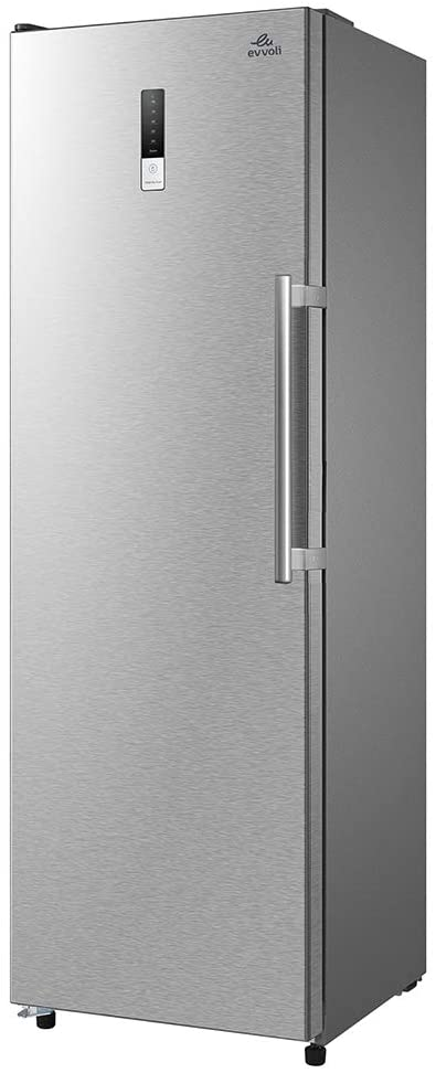 evvoli 310 Liters Upright Single Door Freezer Tanzania EVRFM-U260MFSS Silver, 2 Years Warranty