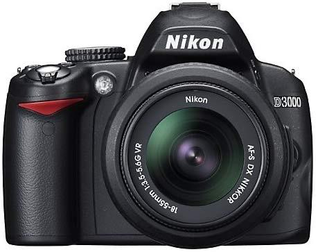Nikon D3000 with 18-55
