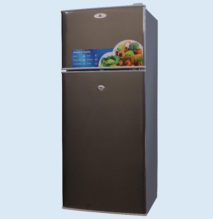 Delta Double Door Top Freezer Fridge Defrost 138L Tanzania (Inox, DRF-130.I)