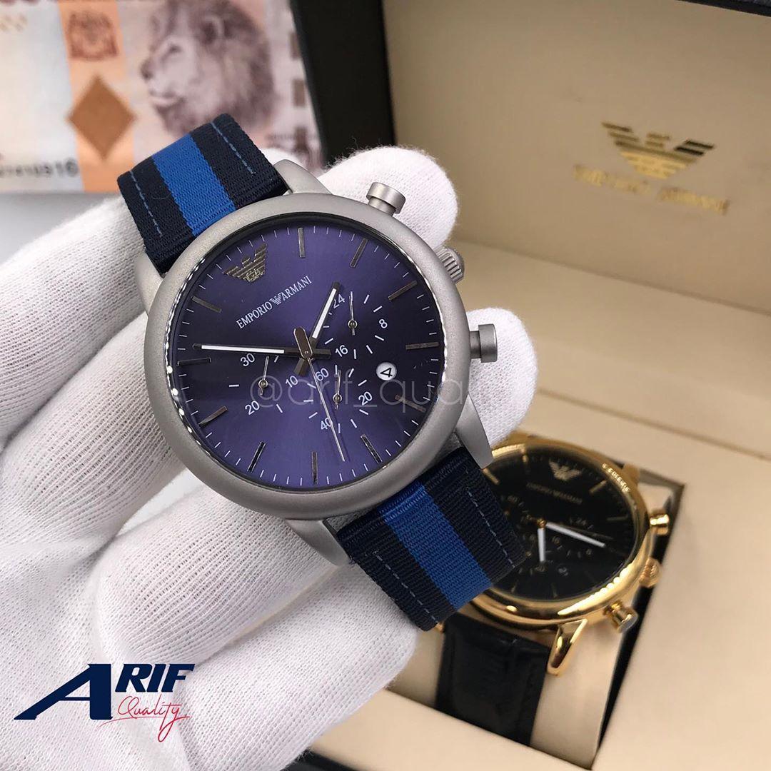 Emporio Armani Wristwatch  Tanzania(Blue Colored Straps)