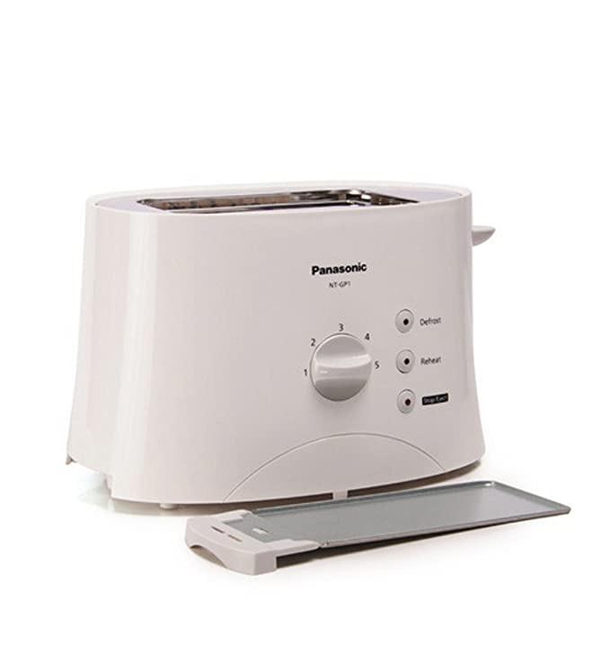 Panasonic 2-Slice Pop-up Toaster Tanzania, 680-Watt, NT-GP1WSH