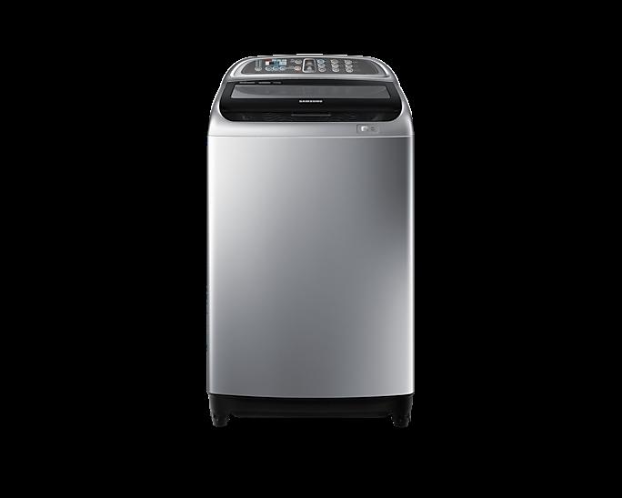 Samsung Active Dual Wash Tanzania - 13 Kg top loading washing machine (WA13J5730) Silver