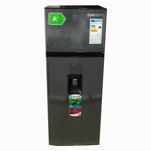 WESTPOINT Double Door Defrost Refrigerator 199L Tanzania  (Inox, WRMN2316ERWDZ)