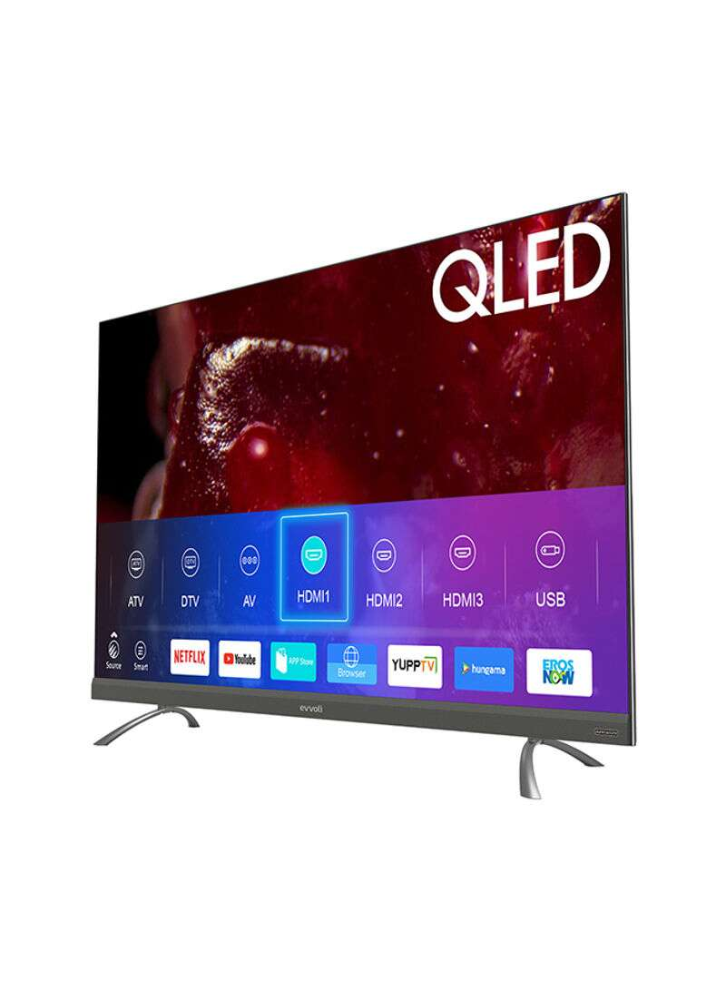 Evvoli 55-Inch Evvo Sound 4K QLED Android Smart TV in Tanzania  with Integrated Sound Bar System 55EV350QA Black