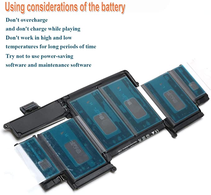 """A1582 Laptop Battery Replacement for 2015 MacBook Pro 13"""" Retina A1502 A1582 ME864 ME865; A1493(Late 2013,Mid 2014 Version) Tanzania [Li-Polymer 11.42 V 74.9Wh]"""
